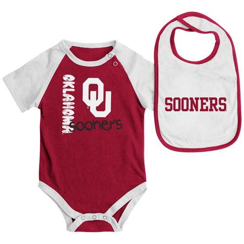 Colosseum Athletics Infants' University of Oklahoma Rookie Onesie and Bib Set - view number 1