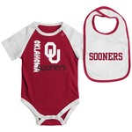 Colosseum Athletics Infants' University of Oklahoma Rookie Onesie and Bib Set