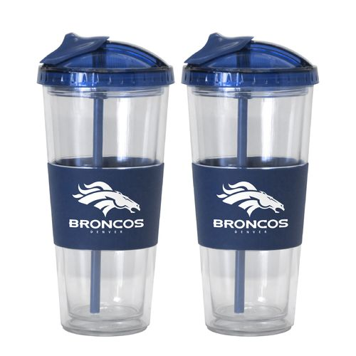 Boelter Brands Denver Broncos 22 oz. No-Spill Straw Tumblers 2-Pack - view number 1