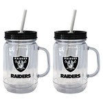 Boelter Brands Oakland Raiders 20 oz. Handled Straw Tumblers 2-Pack - view number 1