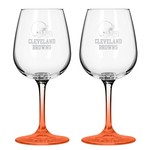 Boelter Brands Cleveland Browns 12 oz. Wine Glasses 2-Pack
