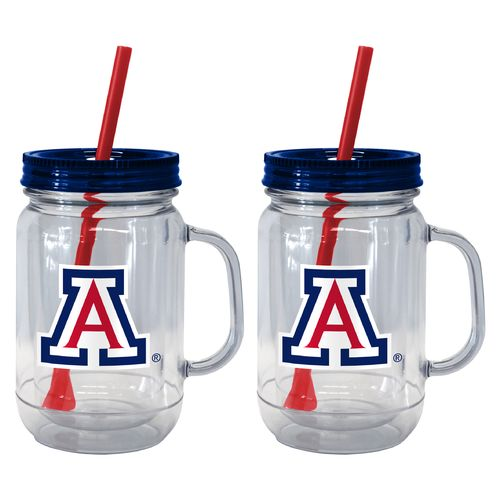 Boelter Brands University of Arizona 20 oz. Handled Straw Tumblers 2-Pack