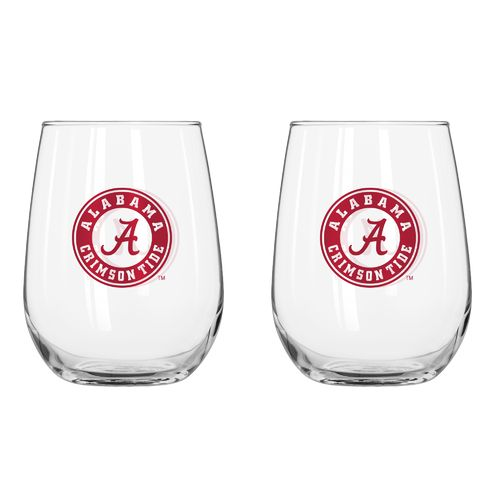 Boelter Brands University of Alabama 16 oz. Curved Beverage Glasses 2-Pack