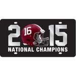 Stockdale University of Alabama 2015 National Championship License Plate