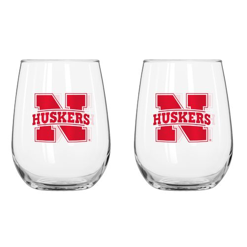 Boelter Brands University of Nebraska 16 oz. Curved Beverage Glasses 2-Pack
