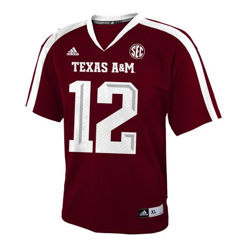 adidas™ Boys' Texas A&M University Replica Jersey