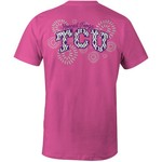 Image One Women's Texas Christian University Fireworks Comfort Color T-shirt