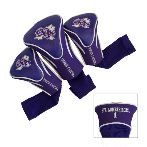 Team Golf Stephen F. Austin State University Contour Sock Head Covers 3-Pack