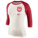 Nike Women's University of Georgia Veer Raglan T-shirt