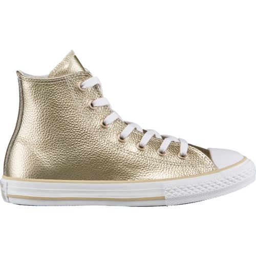 Converse Girls' Chuck Taylor All Star Stingray Metallic High-Top Shoes