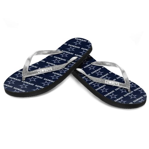 Forever Collectibles™ Women's Dallas Cowboys 2016 Glitter Logo Flip-Flops