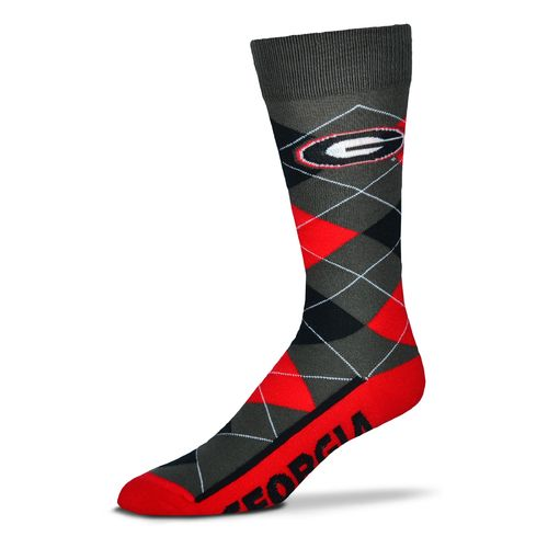 FBF Originals Men's University of Georgia Argyle Zoom Dress Socks