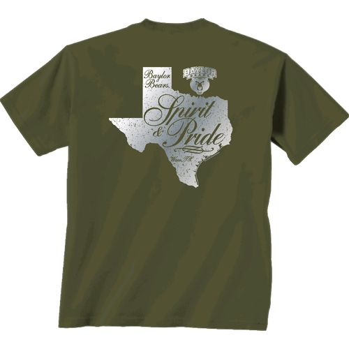 New World Graphics Women's Baylor University Silver State Distress T-shirt