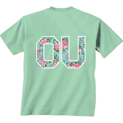 New World Graphics Women's University of Oklahoma Floral T-shirt