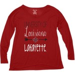 Blue 84 Women's University of Louisiana at Lafayette Liquid Jersey Patch Long Sleeve T-shirt