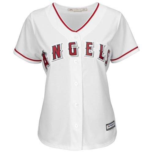 Majestic Women's Los Angeles Angels of Anaheim Jered Weaver #36 Authentic Cool Base Home Jersey - view number 3