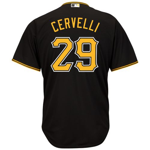 Majestic Men's Pittsburgh Pirates Francisco Cervelli #29 Cool Base Replica Jersey