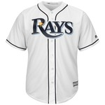 Majestic Men's Tampa Bay Rays Brad Miller #13 Cool Base Replica Jersey - view number 3