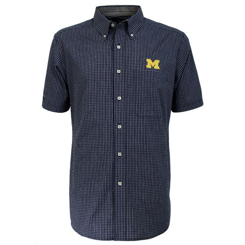 Antigua Men's University of Michigan League Short Sleeve Shirt