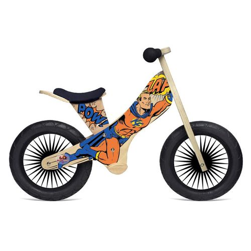 Kinderfeets Kids' Retro Superhero Balance Bicycle