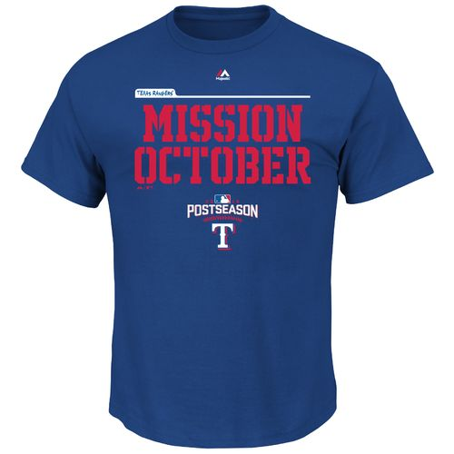 Majestic Men's Texas Rangers Mission October 2016 Postseason Roster T-shirt