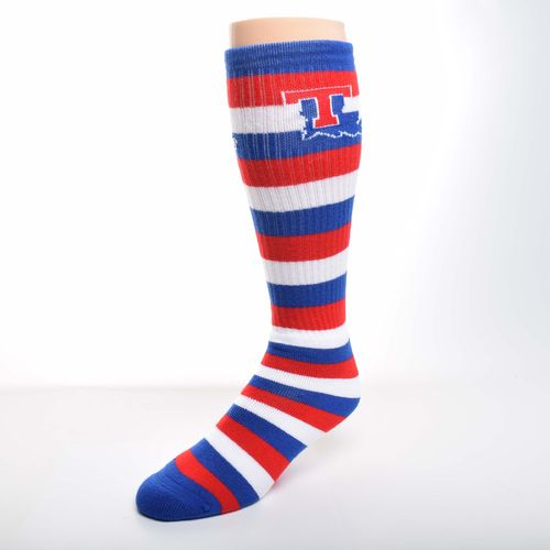For Bare Feet Men's Louisiana Tech University Pro Stripe Tube Socks