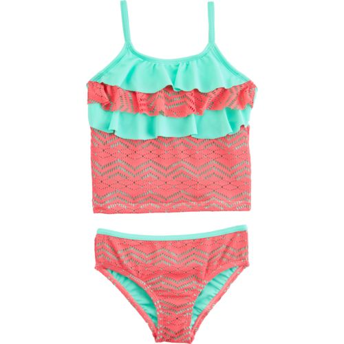 O'Rageous Kids Girls' Art Deco Crocheted 2-Piece Tankini Swimsuit