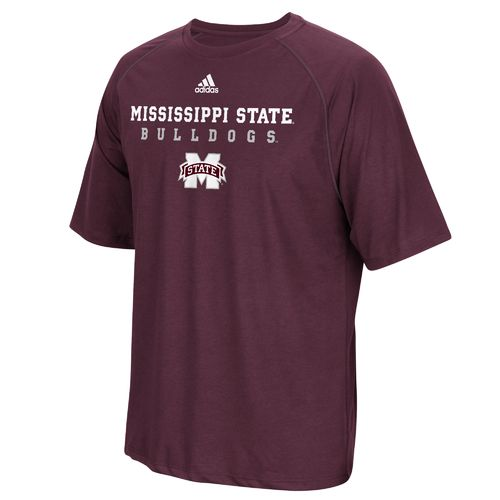 adidas Men's Mississippi State University Sideline climalite T-shirt - view number 1