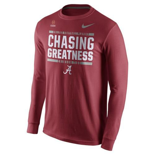 Nike Men's University of Alabama 2017 Playoff Bound Chasing Greatness Long Sleeve T-shirt