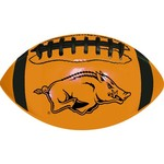 GameMaster University of Arkansas Neon Mini Rubber Football - view number 1