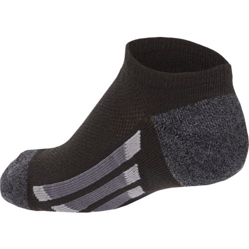 adidas Boys' Vertical Stripe No-Show Socks - view number 2