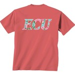 New World Graphics Women's East Carolina University Floral Short Sleeve T-shirt - view number 1