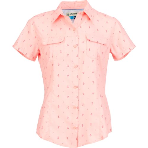 Magellan Outdoors Women's Aransas Pass Short Sleeve Printed Top - view number 3