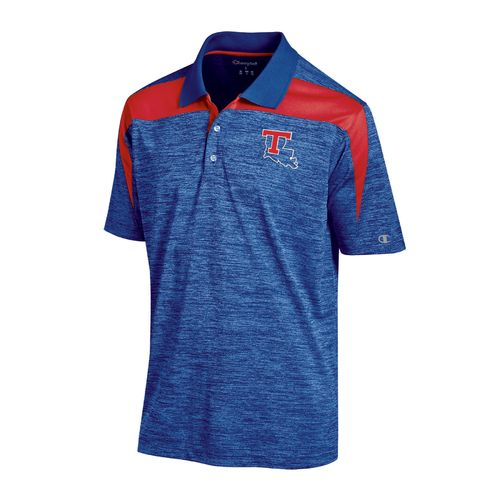 Champion™ Men's Louisiana Tech University Synthetic Colorblock Polo Shirt