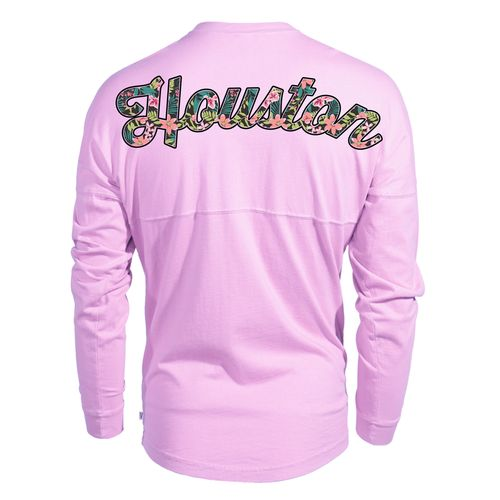 Venley Women's University of Houston Hawaiian Spirit Long Sleeve Football T-shirt