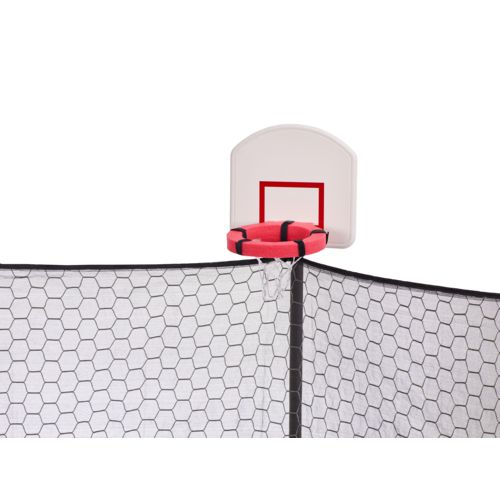 Jump Zone 14 foot Round Trampoline and Double Net Enclosure with Dunkzone Hoop - view number 3