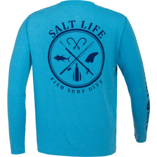 Salt Life Men's Salt Fix Performance Long Sleeve T-shirt - view number 1