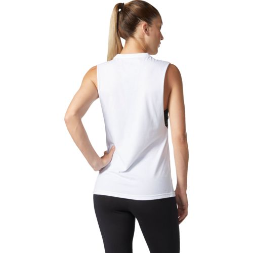 adidas Women's Badge of Sport Iridescent Mesh Muscle Tank Top - view number 3