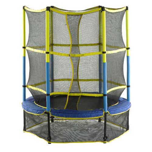 Upper Bounce 55 in Round Trampoline with Enclosure