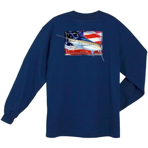 Guy Harvey Men's Black Magic Long Sleeve Pocket T-shirt - view number 4
