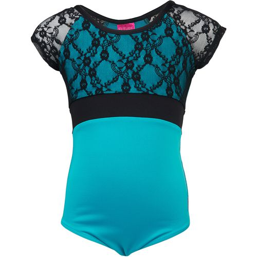 Capezio Girls' Future Star Short Sleeve Lace Leotard - view number 1