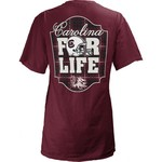Three Squared Juniors' University of South Carolina Team For Life Short Sleeve V-neck T-shirt - view number 1