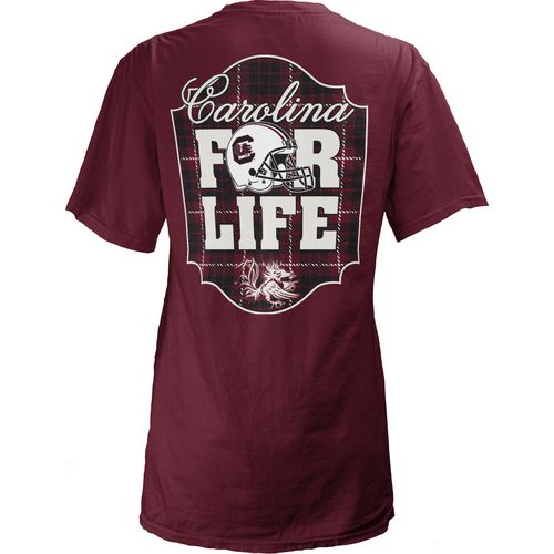 Three Squared Juniors' University of South Carolina Team For Life Short Sleeve V-neck T-shirt