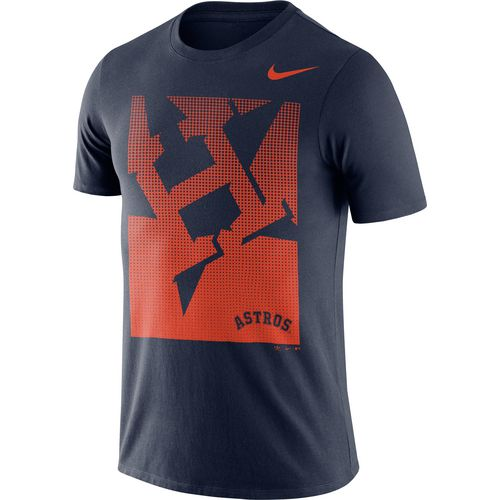 Nike Men's Houston Astros Fade Logo T-shirt - view number 1