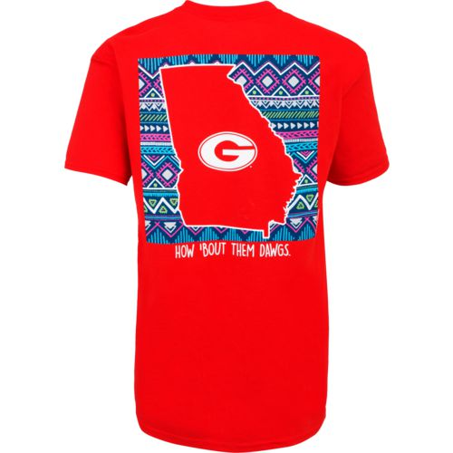 New World Graphics Women's University of Georgia Terrain State T-shirt