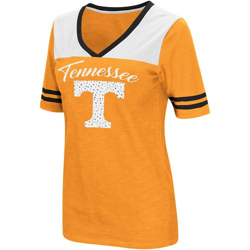 Colosseum Athletics Women's University of Tennessee Twist 2.1 V-Neck T-shirt