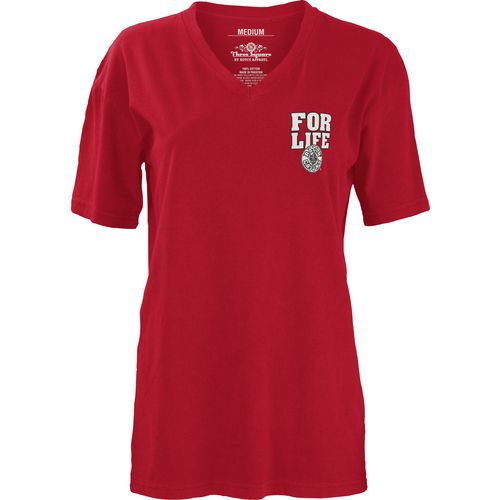 Three Squared Juniors' University of Louisiana at Lafayette Team For Life Short Sleeve V-neck T- - view number 2