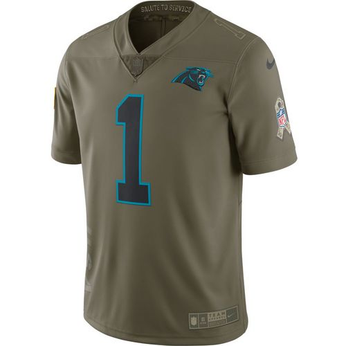 01b9165a8 Nike Mens Carolina Panthers Cam Newton Salute to Service 17 Limited Jersey  ...