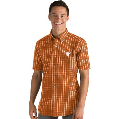 Antigua Men's University of Texas Endorse Short Sleeve Dress Shirt