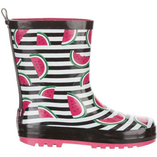 Austin Trading Co. Girls' Rubber Watermelon Boots